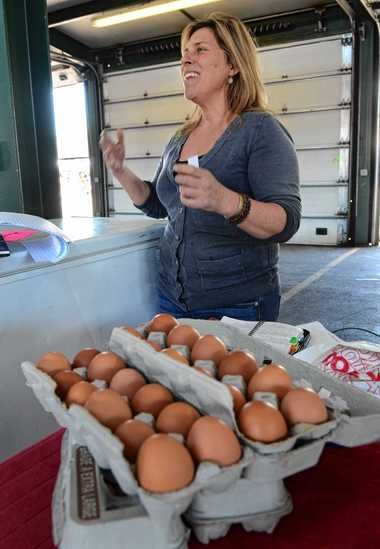 June Wood of WW Longhorn Ranch in Bernhards Bay says younger people who care about locally sourced food are boosting her business at the regional market.
