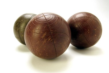 Bocce is the plural of the Italian word 'boccia' which means 'bowl.'