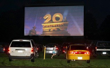 The show starts at the Midway Drive-In Theater in Minetto.
