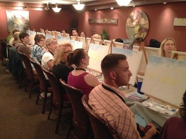 Painters Listen To Deb Foster Explain How Paint Clouds On Tuesday July 23