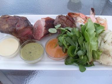Mixed Grill W Duck Breast A Lamb Chop Beef Tenderloin And Jumbo