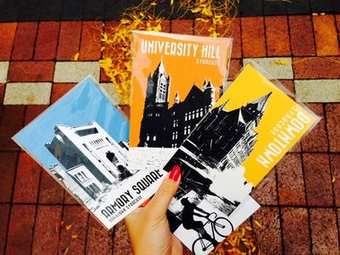 Jason Evans of [re]think syracuse sells prints representing every local neighborhood. Here are four of his designs.