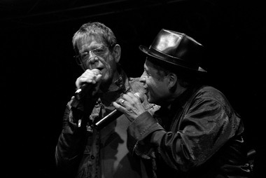 Lou Reed (left) and Garland Jeffreys perform together at the Highline Ballroom in 2010