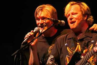 Todd Hobin (left) and Doug Moncrief perform with the Todd Hobin Band Saturday night at Euro-Fest in Syracuse in 2005