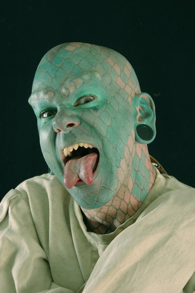 "Erik ""Lizardman"" Sprague will attend the Am-Jam Tattoo Expo this weekend."