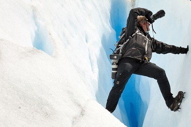 Seth Resnick on a glacier in Patagonia