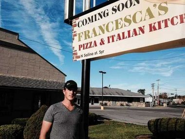 Gary Angeloro stands outside the new Francesca's Pizza and Italian Kitchen, located in Ponderosa Plaza in Liverpool.