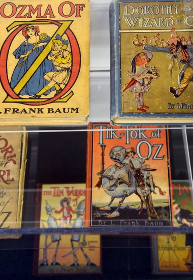 """A collection of books by L. Frank Baum are on display in the """"All Things Oz"""" museum/gift shop in Chittenango."""