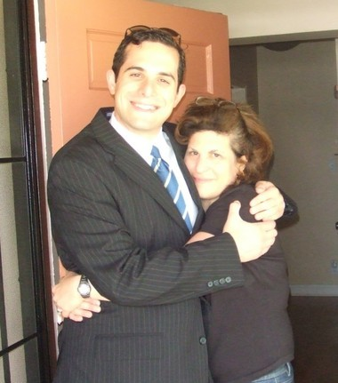 Laurence Segal and his mother Laurie.