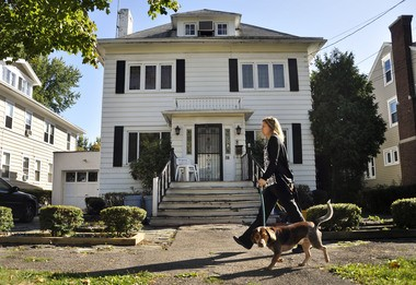 The Binghamton, NY, house where Rod Serling lived from 1926 to 1941, is pictured in 2009. The home is within walking distance to Recreation Park, where a carousel inspired the 'Twilight Zone' episode 'Walking Distance.'