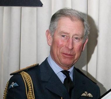 Britain's Prince Charles at the Royal Air Force base at Shawbury, England, Friday Jan. 15, 2010.
