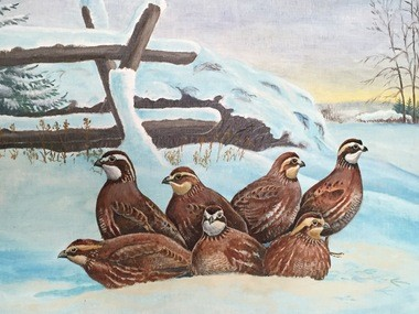 """Visitors from the North,"" an art piece by John A. Weeks on display at Baltimore Woods Nature Center."