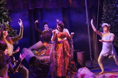 "Julia Goretsky performs as Titania in the Red House Arts Center production of Shakespeare's ""A Midsummer Night's Dream."""