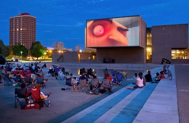 Summer Film Under the Stars on the Everson Community Plaza.
