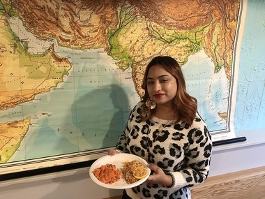 Sarah Robin of Pakistan is the first 'restaurateur in residence' at the new culinary school/restaurant Onondaga Community College will run on Syracuse's North Side. She will help run the location as a restaurant called With Love, Pakistan for six or seven months. The school/restaurant officially opened Dec. 2.
