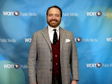 """Nick Stellino, host of cooking shows on PBS, at the Taste of Fame fundraiser for WCNY-TV in Syracuse. Stellino's newest show, """"Nick Stellino: Storyteller in the Kitchen,"""" is produced in partnership with WCNY."""