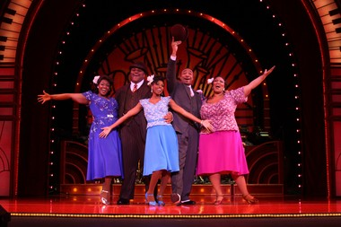 """The cast of the Famous Artists Broadway Theater Series production of """"Ain't Misbehavin."""" From left, Patrice Covington, Ruben Studdard, Trenyce, David Jennings, Frenchie Davis. Jeffrey Richards photo/Courtesy Famous Artists"""