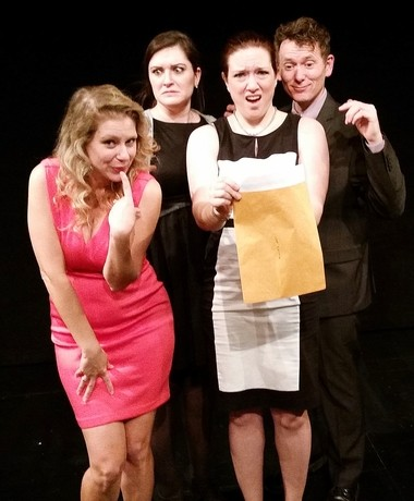From ACME Mystery Co. performers Jennie Russo, Liz Ladd, Natalie Wilson, and Mark Holt.