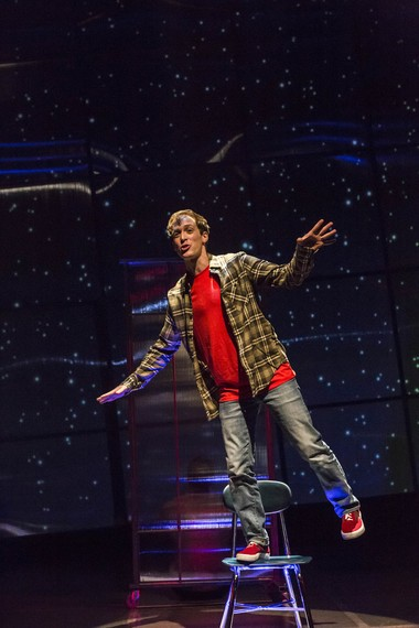 """Mickey Rowe as Christopher John Francis Boone in """"The Curious Incident of the Dog in the Night-Time."""""""