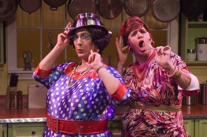 Delphine and Carmela Calamari star in The Calamari Sisters: Beat Until Stiff