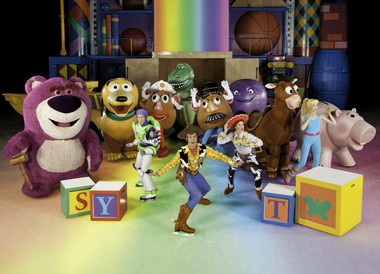 """Characters from """"Toy Story"""" perform with Disney on Ice."""