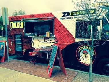 The Chicken Bandit food truck is now located next to the MOST in Armory Square.