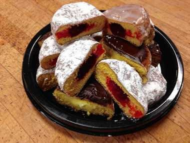 Paczki at Tops Markets come with various fruit or cream fillings. Bavarian Cream is the most popular.