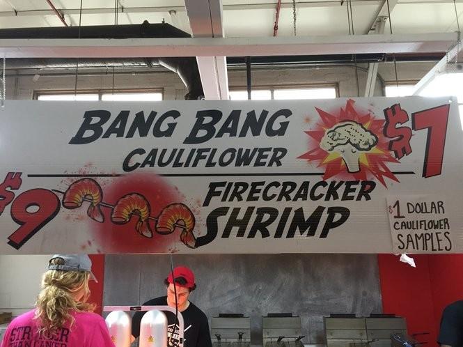 Bang Bang Cauliflower Menu