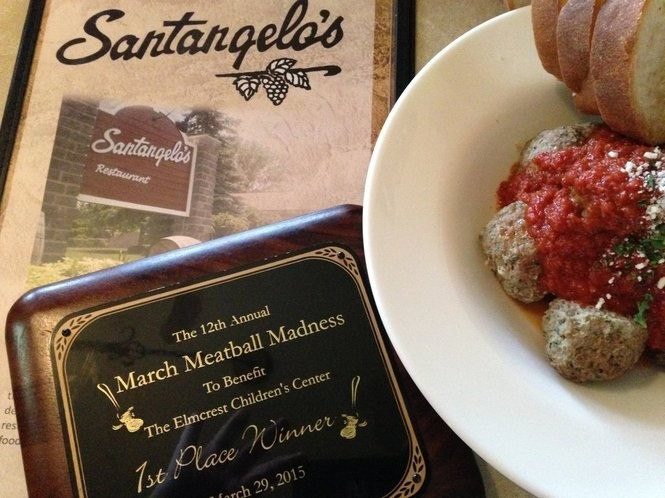 A bowl of award-winning meatballs from Santangelo's in Liverpool.