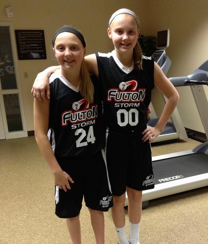 Mackenzie Smith (left) and Madison at age 11.