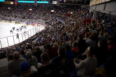 A sellout crowd in 2012 for the Syracuse Crunch at the War Memorial: An arena with staggering history and physical limitations.