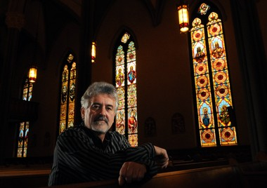 Scott Brennan: His stained glass studio will leave the old St. John the Evangelist Church and relocate in Lyncourt.
