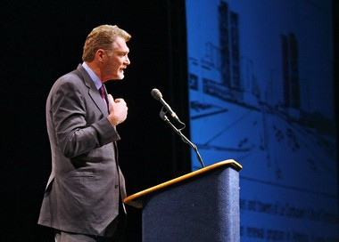 John Norquist in Syracuse, 2009: The former Milwaukee mayor argues for removing downtown portions of Interstate 81.