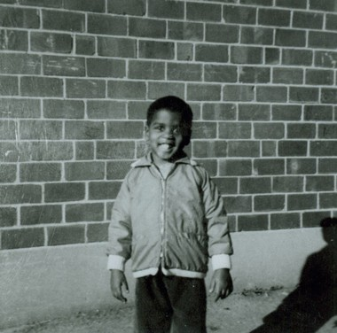 Wallie Howard Jr. at the Hilltop housing complex, Syracuse, early 1960s.