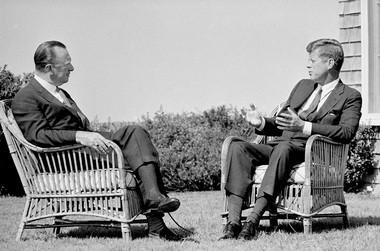 Walter Cronkite and John F. Kennedy, 1963.