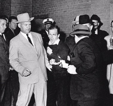 Lee Harvey Oswald is shot to death by Jack Ruby in Dallas.