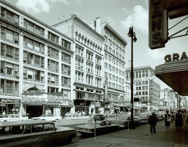 Downtown Syracuse, early 1960s.
