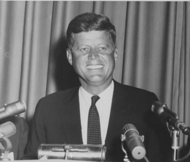 Photo by the great Post-Standard photographer John Sherlock: John F. Kennedy in Syracuse, 1960.