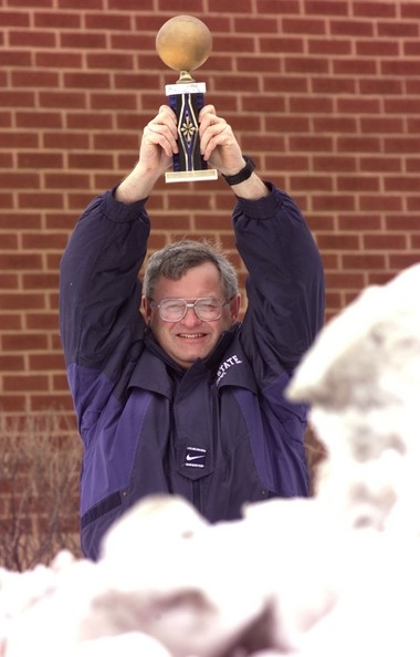 Dave Sage, a National Weather Service photographer from Buffalo, with the original Golden Snowball.