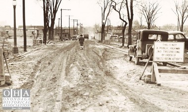 Construction of Pioneer Homes, South McBride Street, 1930s.