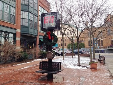 Our monument to the game-changing 24-second clock, Armory Square.