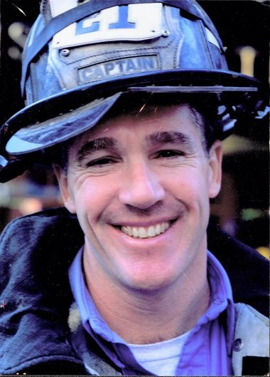 Capt. Billy Burke: This photograph came from a roll of film in the locker in his firehouse, found by his sister Liz, after Billy died on Sept. 11, 2001.