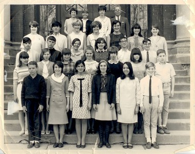 Neilia Hunter Biden (top row), during her time as a middle school teacher at the old Bellevue Academy, Syracuse, 1966.