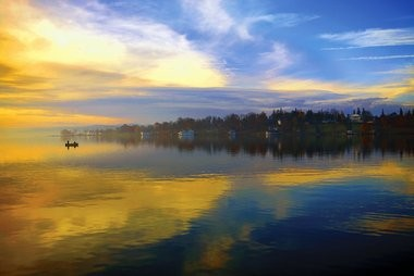 Morning Colors, Skaneateles, view from Thayer Park: The work of John Francis McCarthy.