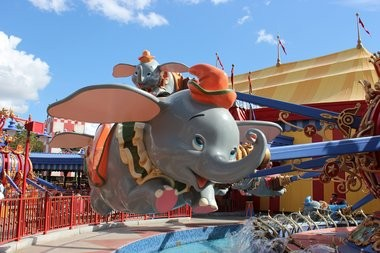A Dumbo ride, at Walt Disney World in Florida.