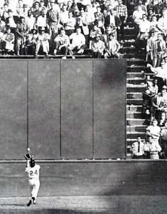 The fabled catch by Willie Mays at the Polo Grounds, game one, 1954 World Series: Charlie Kierst must have been there to see it.