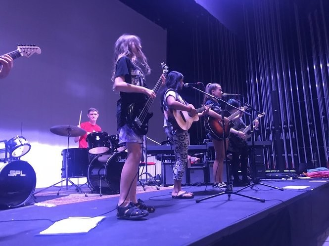 The camp teaches children ages 10-17 to create their own music, promote themselves and perform live.