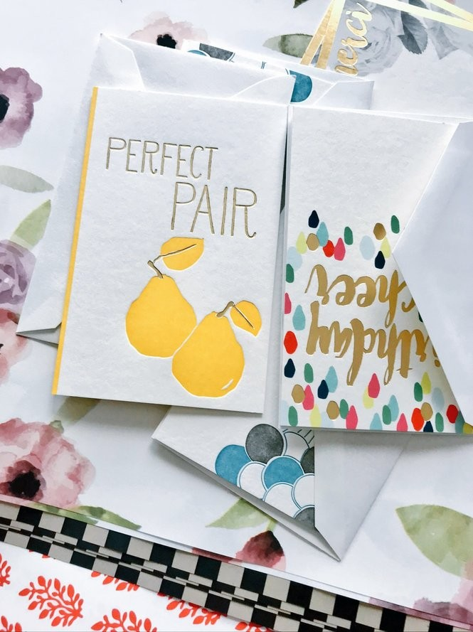 A variety of letterpress products by Smock Paper, the eco-stationery line of Boxcar Press in Syracuse. (Katrina Tulloch | ktulloch@syracuse.com)