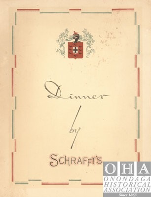The front of Schrafft's Dinner Menu