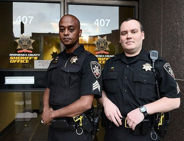 Onondaga County Sheriff's Sgts. Crayg Dykes, left, and Jeremy Young shown in a 2012 file photo.